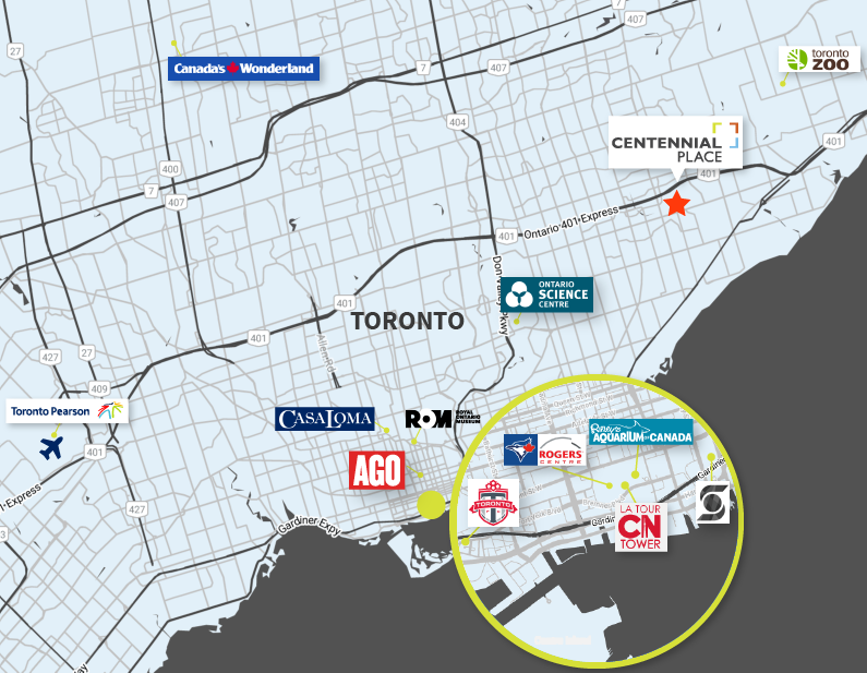 Tourist Map of Toronto